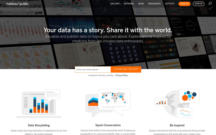 Tableau Public - Free Business Intelligence Tools